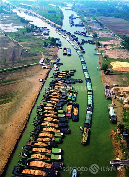 运河,大运河,航运,运输,水运,空中看枣庄,空中看台儿庄,空拍,全景