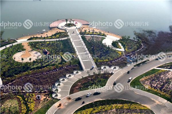 空中看滨州——阳信翠岛湖风景区