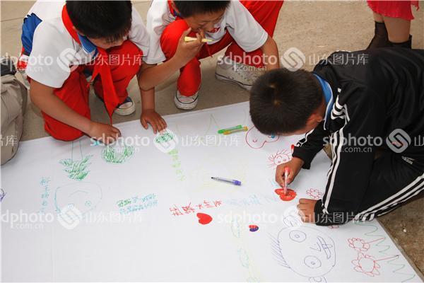 """济南""""共绘中国梦""""六一儿童节手拉手活动"""