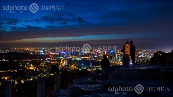 千佛山,济南,济南千佛山,济南旅游,山,自然景观,自然风景,夜景,都市