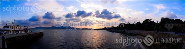 刘公岛石码头全景图