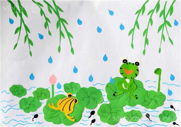 青蛙剪纸步骤图片