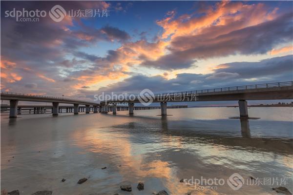 青岛胶州湾跨海大桥风光摄影
