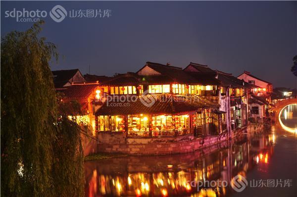 图片关键字:江南水乡,西塘,夜景,夜色,建筑,古建筑 组图编号:128956