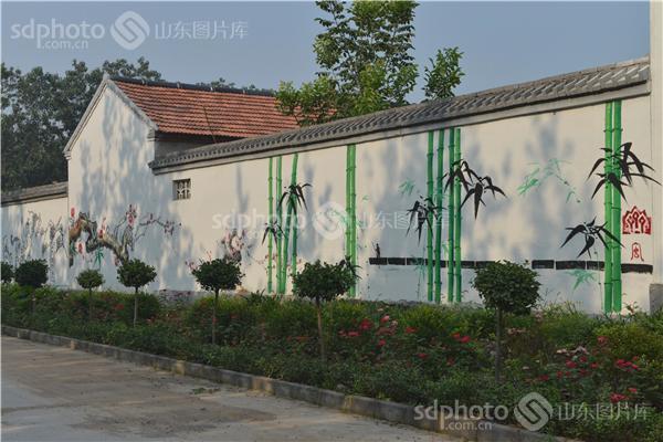 农村幼儿园竹子特色墙面布置图