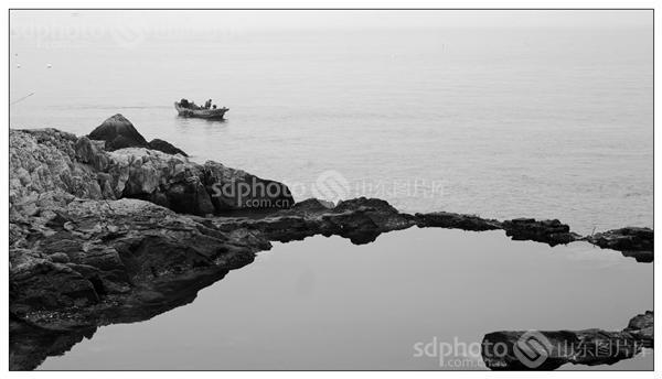 青岛,风光摄影,风光,岛,海边,大海,海,海岛,海滩,海岸,黑白,黑白照片