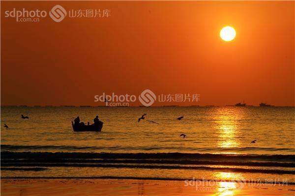 青岛经济技术开发区,开发区,青岛开发区,银沙滩,青岛银沙滩,日出,太阳