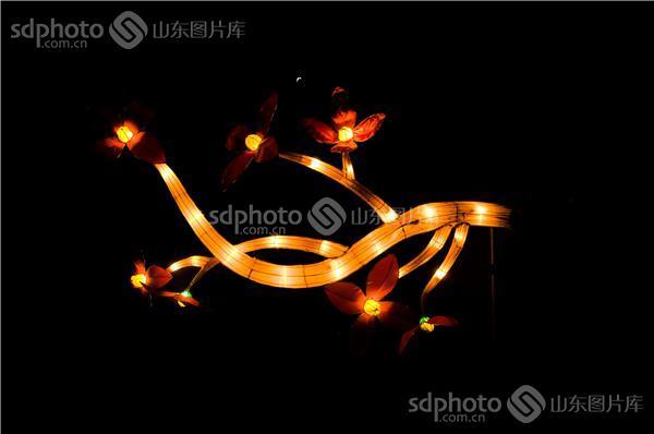 jpeg:1mb 图片说明:2014年日照元宵节晚上的节日彩灯和美丽的节日夜晚