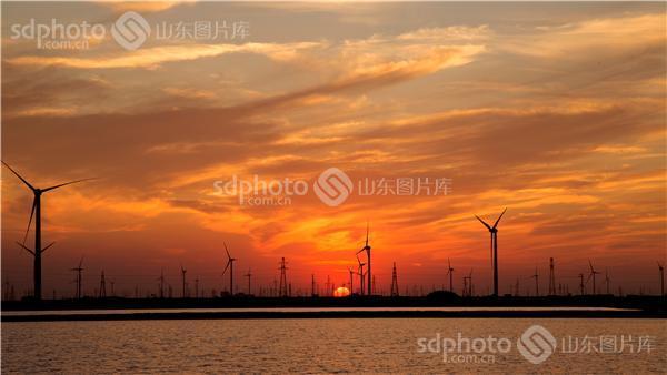 东营夕阳风景图片