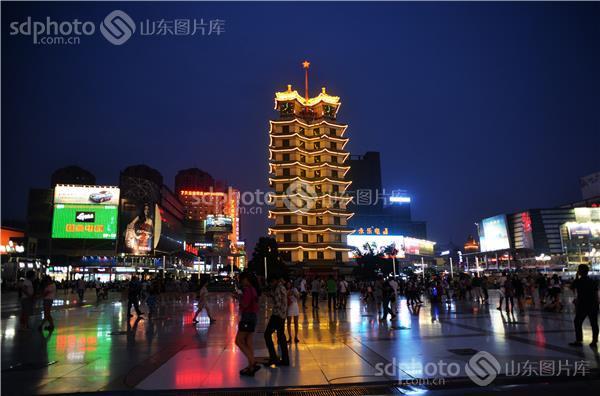 郑州二七纪念塔夜景