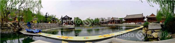 西安大雁塔广场全景图