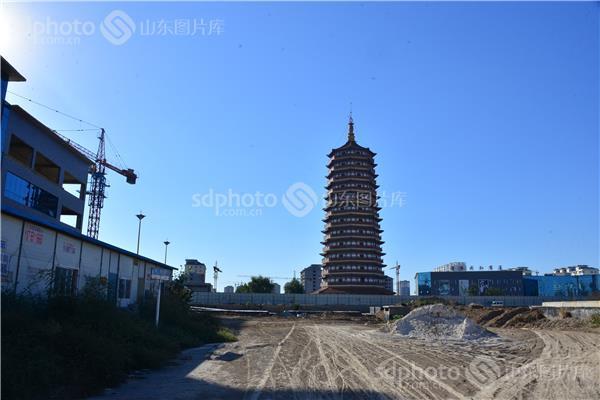 航拍莘县县城