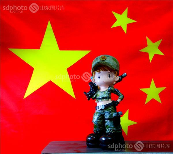 五星红旗,国旗,旗帜,人,军人,士兵 组图编号:136089 组图名称:祖国梦!