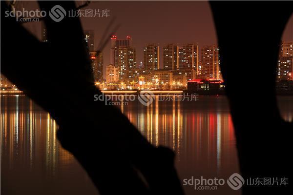夜景 图片关键字:山东,青岛,青岛市,西海岸,新区,黄岛,青西新区,夜景