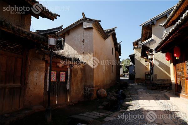 中国传统村落,白族传统建筑,大理小镇,大理古镇,沙溪,古镇,古巷道