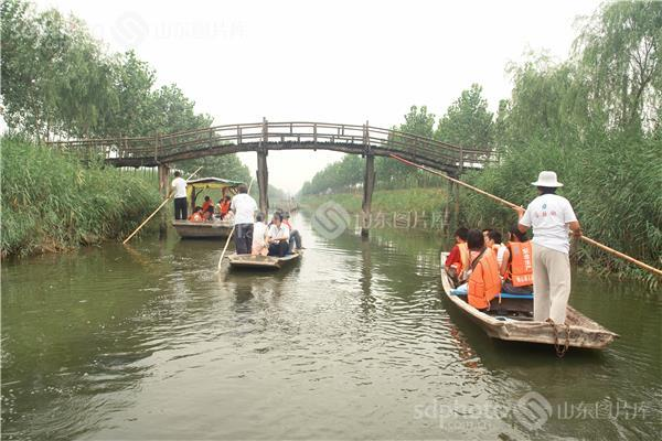 马踏湖风景区位于淄博市桓台县的北部.